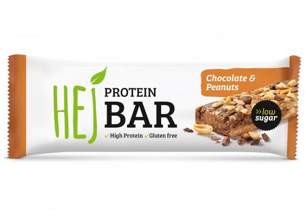 Hejbar Proteinriegel - Hej Protein Bar 60 g Chocolate & Peanuts