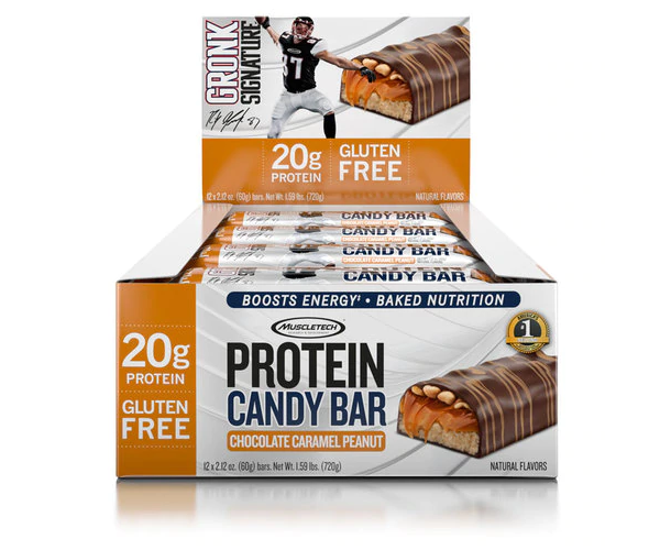 Muscletech Protein Candy Bar Chocolate Caramel Peanut (60g)