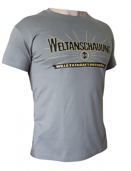 Weltanschauung T-Hemd zink