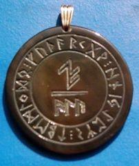 Schutzformel ALU im Runenkreis (H)