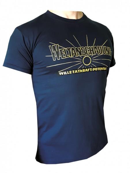 Weltanschauung T-Hemd dunkelblau